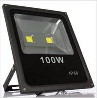 100w llevó el reflector Proyector IP66 exterior llevó luz de luz de inundación blanca caliente / fría AC85-265V llevó las luces del dosel