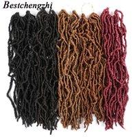 Ну из искусственных лобок вязание крючком косы синтетические волосы 24-дюймовые вьющиеся волнистые богини мягкие логи для черных женщин плетение вязание крючком наращивания волос