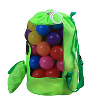 D24 * H48cm Çocuklar Örgü plaj çantası kabuk çanta Kılıfı Tote taşınabilir Katlanır Oyuncaklar Saklama Torbaları oyuncaklar çoc ...