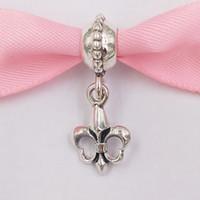 Аутентичные Стерлингового серебра 925 Стерлингового серебра Fleur de Lis Doundly Charm Charms Подходит для европейских ювелирных изделий в стиле Pandora в стиле Pandora 790576