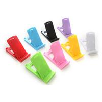 Portátil Mini Telefone suporte de plástico dobrável Cartão Desk Carteira suporte suporte ajustável Universal para Celular / Tablet PC