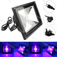 УФ-прожектор 10 Вт 20 Вт 30 Вт 50 Вт Открытый IP65 Водонепроницаемый 110V 220V Ультра Фиолетовый Черный Алюминиевый Стадия Свет для DJ Диско Вечеринка Бар DHL DHL