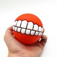 Durchmesser 7,5 cm Bunte Ball Hund Spielzeug Weiche Gummi Welpen Spielzeug Hund Sound Spielzeug Lustige Zahn Hund Kauen Spielzeug Pet Supplies 500 stücke T1i1948