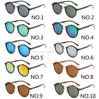 2020 أزياء العلامة التجارية الجديدة النظارات الشمسية كلاسيك للرجال والنساء جولة ريترو خفيفة نظارات مصمم النظارات خمر 4266