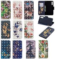 Téléphone cas pour Samsung Galaxy A7 2018 A750 PU cuir Couverture Béquille 3D avec fentes de cartes de portefeuille (Modèle: A7-2018 / A750)