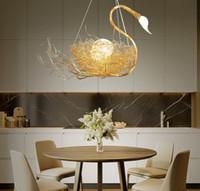 Nordic Swan Kuş Yuvası Kolye Işıklar Salon Restoran Yemek Masa Romantik Lambası Art Deco Işıklar Cafe Bar Aydınlatma MYY Asma