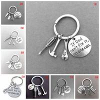 Metal Küçük Araçlar Anahtarlık Mektup Baskı Araba Anahtarlık Kişiselleştirin Gadget Anahtarlık Küçük Anahtarlık Yüzük Doğum Günü babalar Günü Hediye VT