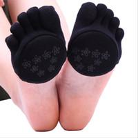 Recém nenhum deslizamento mulheres dedos cap guarda algodão suar absorvente metade ou dedos cheios de gel almofada meias de proteção