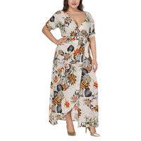 Summer Sexy Plus Size Women Maxi Dress 5xl 6xl 7xl Large Siz...