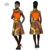 전통적인 아프리카 코트 드레스 여성 다시 키 플러스 사이즈 아프리카 스타일 의류 터틀넥 사무실 드레스 BRW WY2505