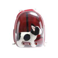 1PCS del animal doméstico del Mochila de pequeño carro de perro transparente PET Cápsula espacial morral del portador Rojo, Amarillo, Azul, Negro, Color Verde