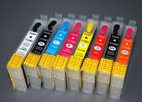 8pcs / set, T1590-T1599 Cartouche d'encre compatible Rechargeables pour Epson Stylus Photo R2000 R2000S Imprimante T1591-9