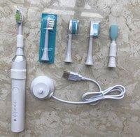 5 Modi 48000VPM EML sonic ricaricabile elettrico intelligente Spazzolino da denti con 4 Dupont FDA sostituzione delle spazzole capi USB Charge IPX7 impermeabile bianco