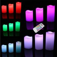 3 무선 18 키 원격 제어 색상 변경 LED 촛불 불꽃 촛불 차 빛 무료 배송
