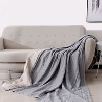 Japanese style simple 4 layer thick cotton blanket air condi...