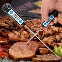 Elektronisches Digital-Thermometer Instrumente Meter Nahrungsmittelprüfspitze Küche kochendes Fleisch Temperaturmessgeräte mit Halter
