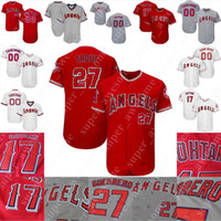 Mike Trout Angels Jersey Shohei Ohtani Andrelton Simmons Albert Pujols Fletcher Ty Buttrey Tommy La Stella Cody Allen Vladimir Guerrero Ryan