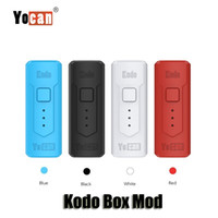 100% Original Yocan Kodo Box Mod 400mAh Variable Voltage Preheat VV Battery For 510 Vape Thick Oil Tank TH105 Cartridges Authentic