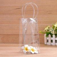 Sac en plastique de glace unique bouteille auto sacs transparents scellés Sac boissons Contenant à boire Rangement Cuisine Accessoires LX1898