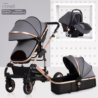 Baby Stroller 3 in 1 neonatal baby carriage high landscape p...