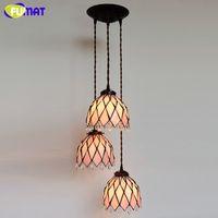 FUMAT Glasmalerei Penant Lichter Glaskunst Schatten lampe für Wohnzimmer Küche Esszimmer LED warme pastorale Pendelleuchten