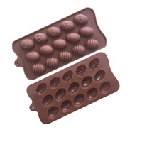 15 Holes Easter Eggs Silicone Chocolate Mold Soap Form Candy...