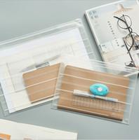 الجملة مكتب الإيداع اللوازم A5 حجم A4 للماء سستة البلاستيك حقيبة ملف شفاف ورقة استلام ورقة حقيبة # 464