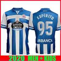 20 21 DePortivo La Coruna Soccer Jerseys 2020 2021 Coruña Rober Pier Exposito Diego Rolan Cartabia Football Shirt Home Camisetas de Fútbol