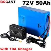 20 초 17 마력 72 볼트 50ah 스쿠터 리튬 배터리 삼성 18650 셀 72 볼트 5000 와트 전기 자전거 배터리 + 100Amps BMS +84 볼트 10A 충전기