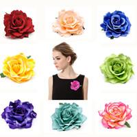 Moda lüks lady broş Kadınlar Için Büyük Gül 10 cm Çiçek Broş Pin 2019 tasarımcı Broş takı Gömlek Yaka Pin Düğün aksesuarları