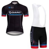 2019 Estate GIANT Team mens manica corta ciclismo ciclismo pantaloncini set quick dry MTB bicicletta sportiva uniforme outdoor racing vestiti Y041901