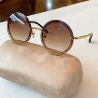 Nuovo caldo Partita di vendita di alta qualità con la collana chain donne di stile rotondo 4245 di moda Occhiali da sole protezione UV con la scatola originale