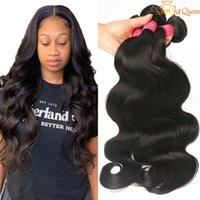 9а бразильские девственницы волосы волосы волна волос пучки необработанные человеческие наращивания волос Weaves натуральный черный цвет