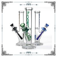 Hot sale 10 inch Phoenix glass straight tube bong with ice c...