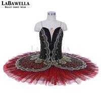 Носить сцену Черный Красный Профессиональный Балет Tutus Женщины La Esmeralda Performance Костюм Блин TUTU Для Девочек JY003A