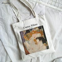 Gustav Klimt Summer New Female Casual Harajuku Canvas High C...