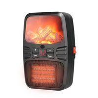 Горячее продавать пламя Нагреватель для рабочих обогревателей Электрических теплого Вентилятор Пламя Малого Регулируемые для домашнего офиса DHL Free общема