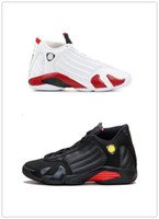 2019 14 candy cane tênis de basquete último tiro 2018 14 s tênis esportivos branco Varsity vermelho vermelho metálico preto acentos polvilhados