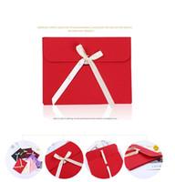 리본 사진 엽서 봉투 상자와 실크 스카프에 대 한 큰 검은 사진 봉투 포장 케이스 백서 선물 봉투 최대 100pcs