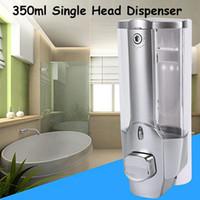 Mutfak Banyo Aracı için 350ML Sıvı Sabunluk Tek Kafa Duvara Monte Duş Banyo Yıkama Losyonu Sabun Şampuan Dispenseri