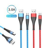 Mikro USB Kablosu Hızlı Şarj Kablosu TPE USB Kablosu Şarj Hızlı Şarj Kablo İçin Xiaomi Huawei LG Samsung Cep Telefonu USB