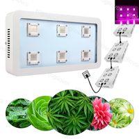 Full Spectrum LED Grow Lights 1800W x6 Cob aluminio para la planta interior al aire libre hidropónico invernadero iluminación DHL