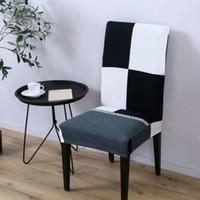 مطاطا الطباعة كرسي الطعام يغطي غلاف الحديثة للإزالة مكافحة القذرة مقعد المطبخ حالة تمتد غطاء