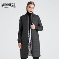 Kadın Aşağı Parkas Miegofce 2021 Bahar Coat Bir Eşarp Ceketli Kadınlar Standı Yaka Ince Kesit Pamuk Giyim Tasarımcısı