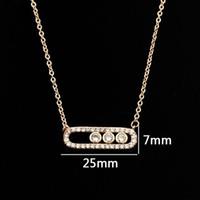 Beichong Kristall Perle Anhänger Halskette Für Frauen Zierliche Hochzeit Schmuck Edelstahl Rose Gold 3 Dot Auf Oval Halskette Colar