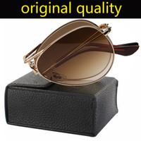 projeto Marca óculos de sol das mulheres dos homens modelo 3479 dobrar aviação piloto vidro sol UV400 lentes para mulher homem com todos os acessórios