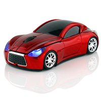 Wholesale 2. 4GHz Wireless Mini Car Mouse Small Shape Car Mic...