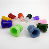 Funnel Bowl für Glaspfeife Schüsseln Rohre Thick Slides Bongs Raucher Farbe Stück Rosa Heady Grossisten Bohrinseln Stück 14mm 18mm Slide Dab