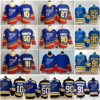 2019-20 St. Louis Blues 90 90 90 Vintage Jersey Binnington Ryan O'Reilly O Reilly Oleilly Alex Pietrangelo Vladimir Tarasenko Brayden Schenn