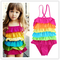 4- 9T new cute baby girls swimwear girl one piece girls swims...